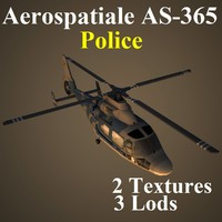 3d model aerospatiale kpl helicopter