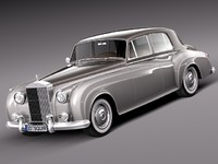 3d classic antique luxury rolls royce model