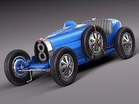 3d classic antique 1929 ugatti
