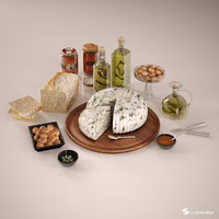 3d model cheese board