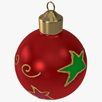 christmas ornament ball 2 3d max