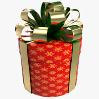3d cylinder gift box