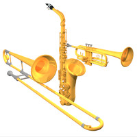 Horn Section Model Pack: Saxophone / Trumpet / Trombone