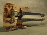 cinema4d ibanez double neck guitar