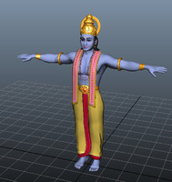hindhu vishnu god 3d model