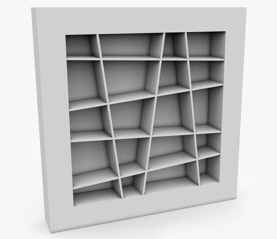 free ligne roset lines shelf 3d model. Black Bedroom Furniture Sets. Home Design Ideas