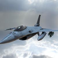 3d model combat jet
