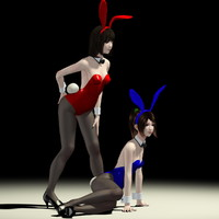 3dsmax 2 girls natsumi mariko