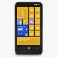 nokia lumia 620 gray 3d max