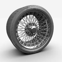 3d spoke rim model