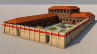 3d roman villa