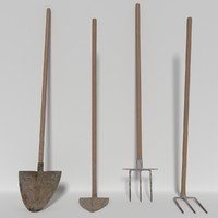 3d farming tools model