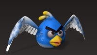 3d cartoon bird model