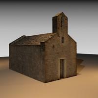 3d model stone church ix century