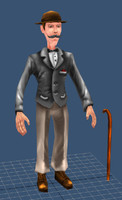 gentleman man 3d max