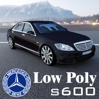 S600 AMG Low Poly