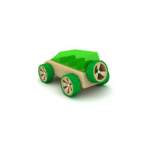 3ds max wooden toy car