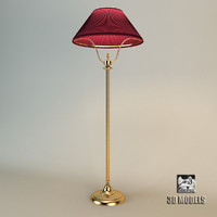 Baker Lyre Floor Lamp