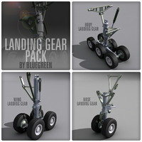 nose landing gears pack 3d model