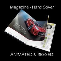 3d model magazine hard cover opening