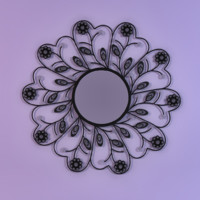 free decorative mirror 3d model