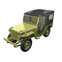 3ds max 1946 willys jeep