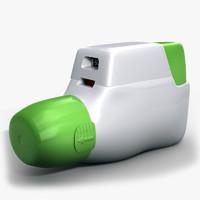 inhaler 3d max