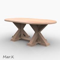 3d model dinner table