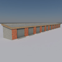 garage shed ready 3d fbx