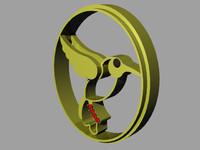 3d bird pendant
