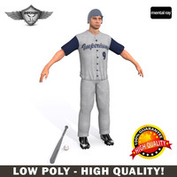 baseball player 3d max