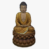 3d model of buddha