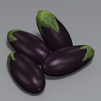 3d model aubergine eggplant ratatouille