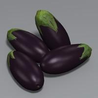 3d model aubergine eggplant ratatouille