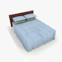 bed blue 3d 3ds