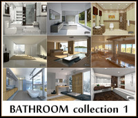 3d model of bathrooms scenes