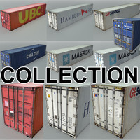 cargo shipping containers 3d max