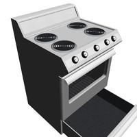 3d open oven door