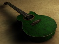 ibanez acoustic guitar ep7 3d model