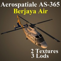aerospatiale bvt helicopter 3d model