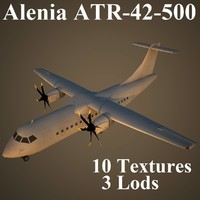 alenia air low-poly 3d model