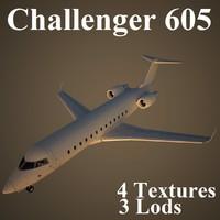 3d bombardier challenger 605