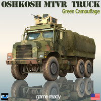 3d oshkosh mtvr military truck model