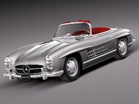 classic antique mercedes mercedes-benz 3d model
