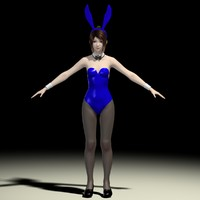 t-pose girl natsumi bunny 3d model