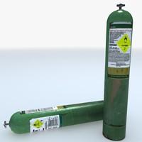 3ds max pressurised oxygen cylinder