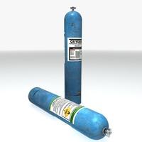 3d pressurised oxygen canister