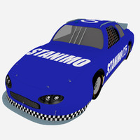 racing car 3d obj