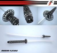 3d modern katana