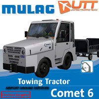 mulag towing tractor 3d model